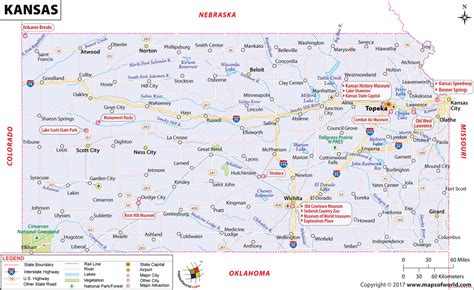 usa map ks map of ks my