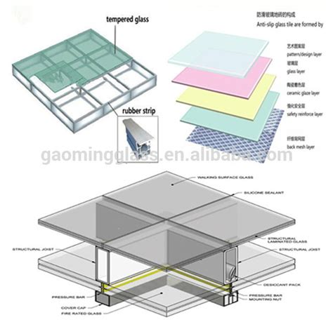 glass floor customized glass floor laminated glass tempered glass