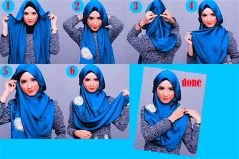 tutorial dandan untuk remaja cara memakai hijab modern untuk remaja