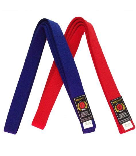 Sabuk Biru Karate Hokido Ultimate sabuk pertandingan karate osh merah dan biru
