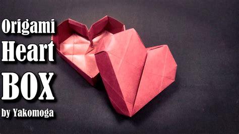 3d origami box tutorial origami box heart 3d origami easy tutorial origami gift