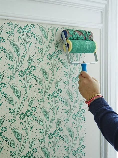 pattern roller for walls patterned paint roller with handle decor pinterest