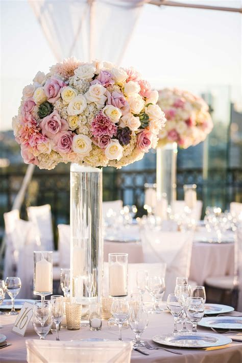 Wedding Flower Vases Reception D 233 Cor Photos Clear Glass Vase With Pink