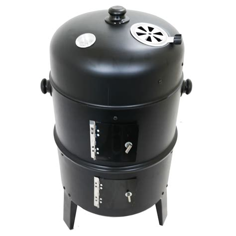 smoker barbecue bbq 3 in 1 charcoal grill outdoor garden cooker camping ebay