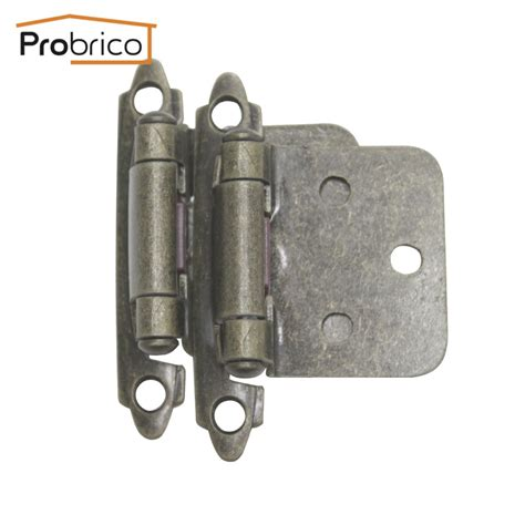 kitchen cabinet hardware hinges probrico self close 4 pair antique bronze kitchen cabinet