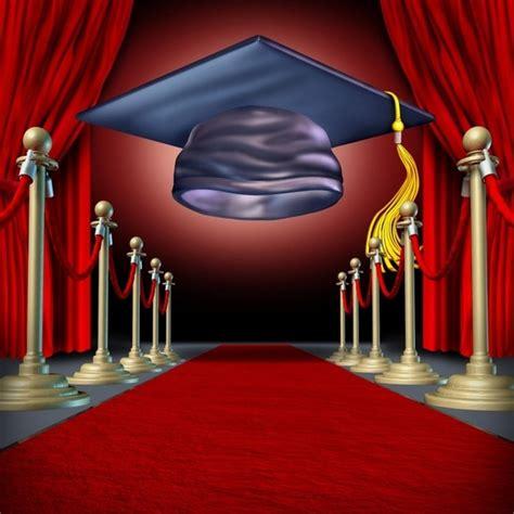 laeacco cartoon graduation cap red carpet scene baby photography backgrounds customized