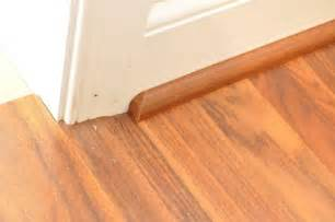 Hardwood Floor Molding How To Install A Floating Laminate Floor One Project Closer