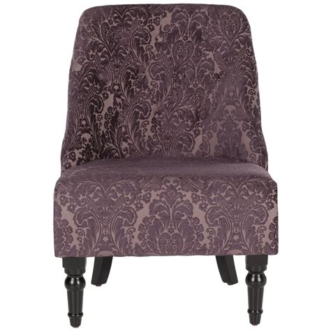 shop safavieh mercer purple accent chair at lowes com