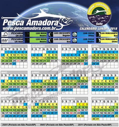 Calendario Judaico 2018 Calend 225 De Pesca Fases Da Lua Portal Pesca Amadora