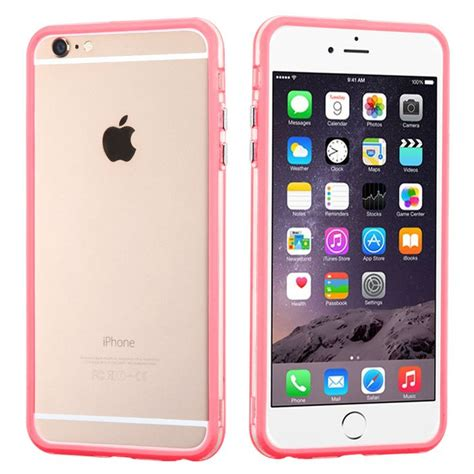 buy mybat hybrid bumper iphone 6 6s plus pink clear at myphonecase for only 5 25
