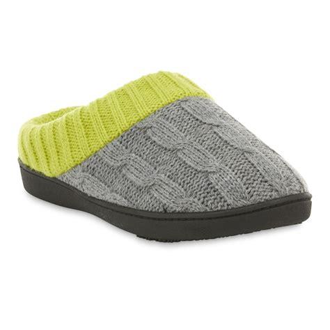 isotoner clog slippers isotoner s lime green gray clog slipper