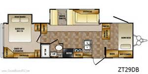Zinger Travel Trailers Floor Plans by Crossroads Zinger Rv Bunkhouse Camper 29db All About