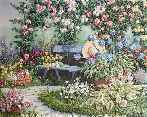 Ribbon Embroidery Flower Garden A Rose Garden Di Van Niekerk