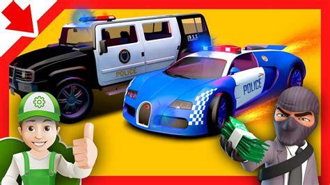 carros de policias  ninos dibujos animados policia