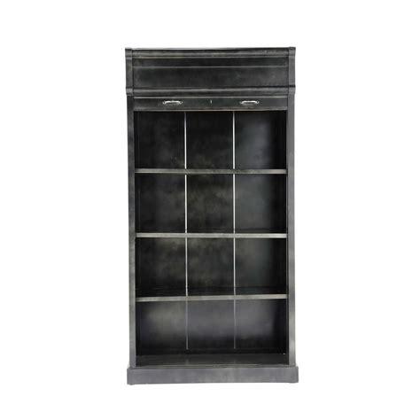 black metal bookshelves metal industrial bookcase in black w 100cm charlton