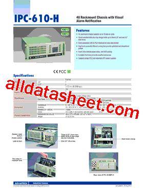 all sections of ipc ipc 610bp 00xhe datasheet pdf advantech co ltd