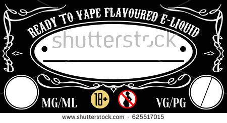 Vaping Eliquid Ejuice Universal Label Template Stock Vector Royalty Free 625517015 Shutterstock E Juice Label Template