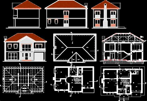 home design autocad free download family house in autocad drawing bibliocad