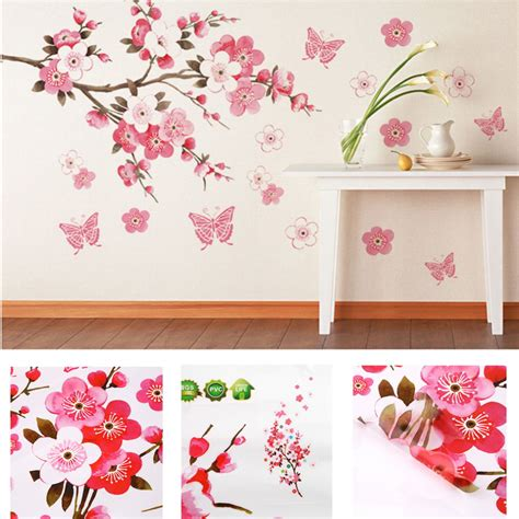 flower wall stickers for bedrooms bathroom flower butterfly wall stickers decal removable