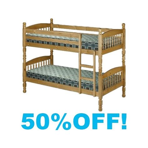 small bunk bed small single 2ft6 bunk bed pine