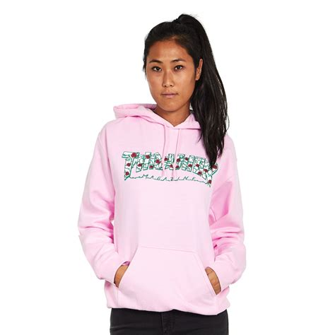 light pink hoodie s thrasher s roses pullover hoodie light pink hhv