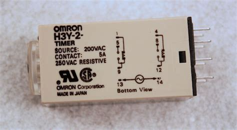 Timer Relay Omron H3y 2 By Wobble used omron h3y 2 200 vac timer relay