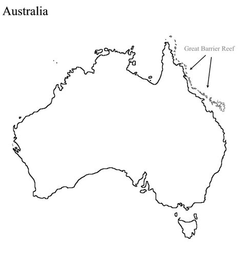 australia map outline blank map australia