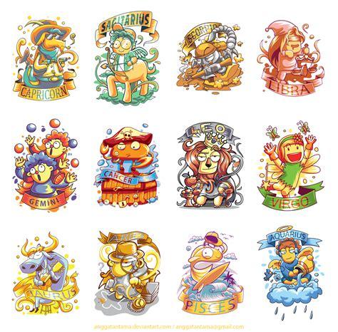 12 cute zodiac characters by anggatantama on deviantart