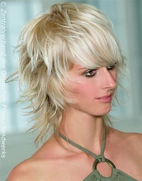 short bob hairstyles for women with lots of feathering and stacked shaggy layered haircuts