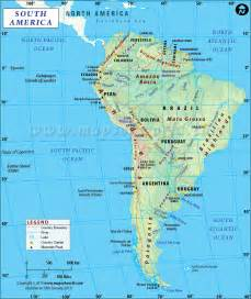 south america world map map of south america free large images