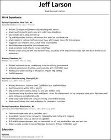 Welders Resume by Welder Resume Resumesles Net