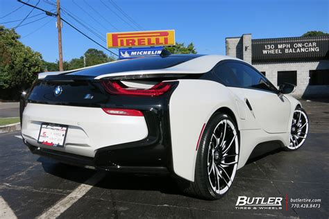 bmw i8 tire size bmw i8 with 22in savini sv62c wheels exclusively from