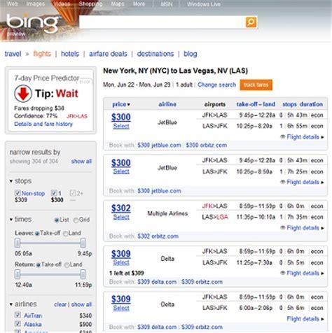 microsoft travel search offers consumers fare predictor