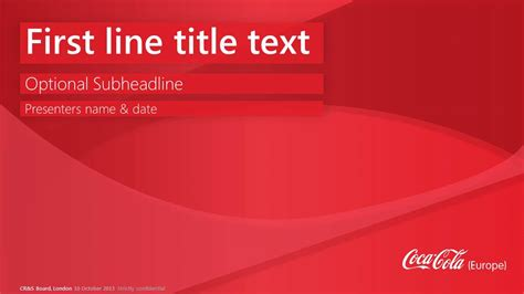 Coca Cola Europe Template Powerpoint Designers London Coca Cola Powerpoint Template