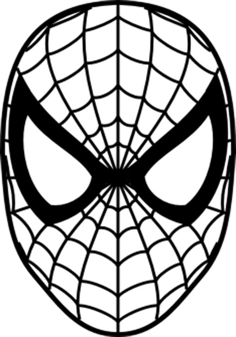 spiderman head coloring page spiderman face logo spiderman mask clipart 23424wall jpg