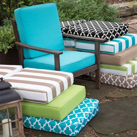 outdoor seat cushions small replacement tufted seat