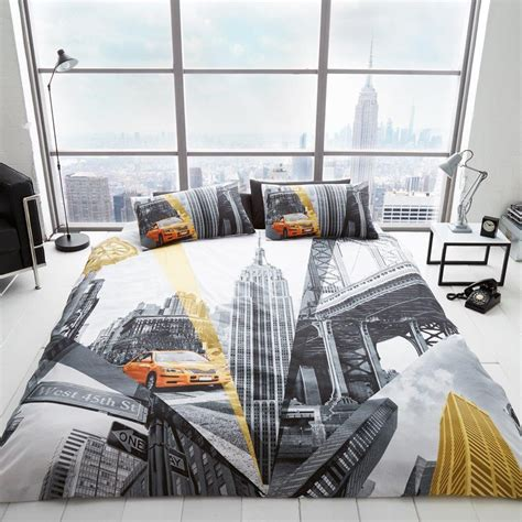 New York Duvet Cover by New York City Bedding Duvet Cover Sets Usa Skyline