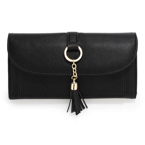 Wallet With Tassel agp1091 black flap purse wallet with tassel
