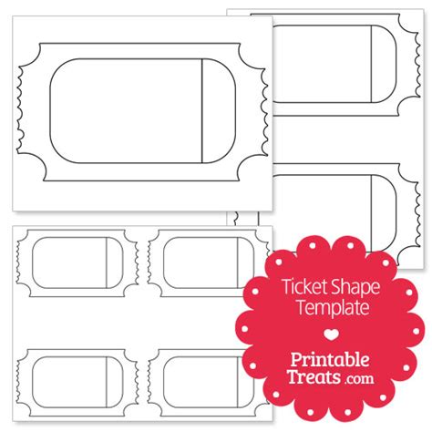 printable ticket shape template from printabletreats com