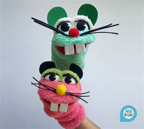 diy sock mouse mouse sock puppet diy crafts