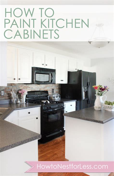 How Do I Paint My Kitchen Cabinets How To Paint Your Kitchen Cabinets How To Nest For Less
