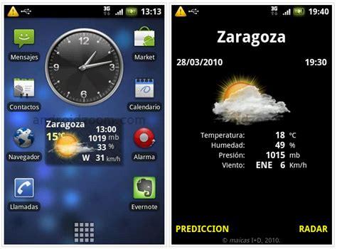widget imagenes html meteo widget para android el clima en tu home