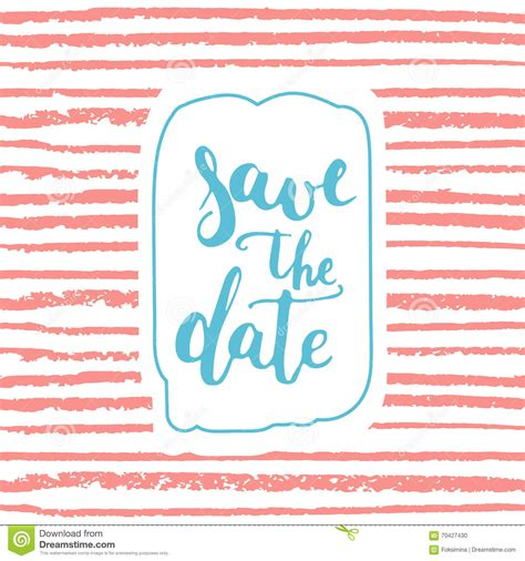template savings card save the date card template on the striped pink background