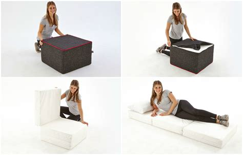 footstool for bed cool foot stool turns into a bed in seconds living in a