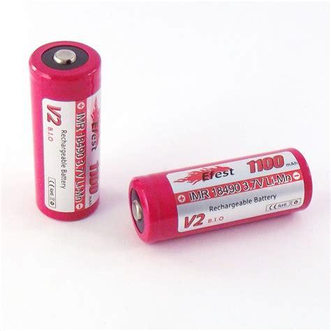 Efest Imr 18490 Li Mn Battery 1100mah 3 7v imr 18490 1100mah efest battery top l js e smokes premium e liquids and vaping