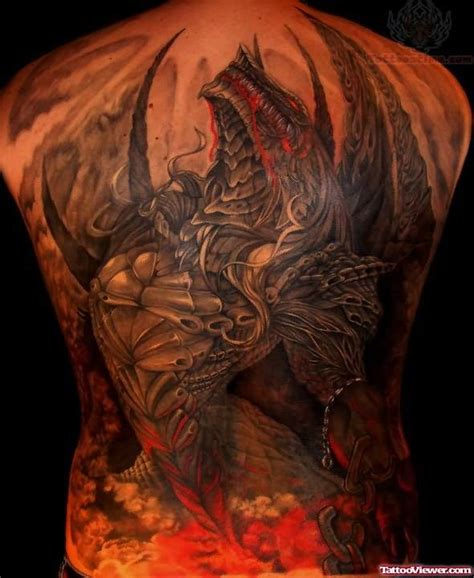 dragon tattoo on your back dragon color tattoo on full back tattoo viewer com
