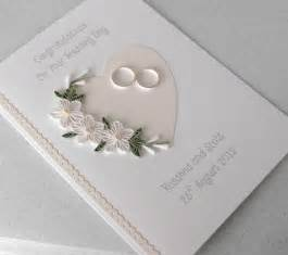 quilled wedding day card congratulations personalized with