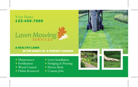 lawn service business card template lawn care business cards templates studio design