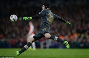 arsenal goalkeeper arsenal 0 2 barcelona lionel messi scores brace for