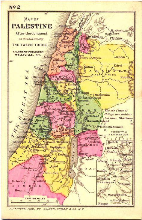 biblical map of israel israel alte karte